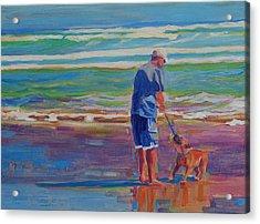 Dog Beach Play Acrylic Print