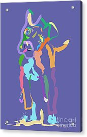 Acrylic Print featuring the painting Dog Cookie by Go Van Kampen