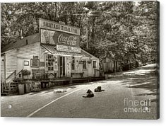 Dog Day Afternoon Sepia Tone Acrylic Print