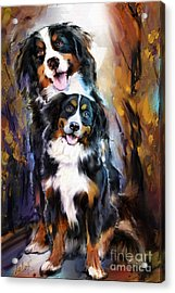 Dog Family Acrylic Print