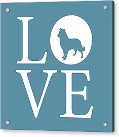 Dog Love Acrylic Print by Nancy Ingersoll
