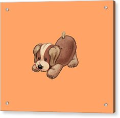 Dog Pounce Acrylic Print
