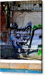 Dog River         ' Graffiti ' Acrylic Print by Urban Artful