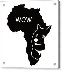 Dogecoin In Africa Acrylic Print by Michael Jordan