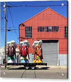 Doggie Diner Heads Acrylic Print