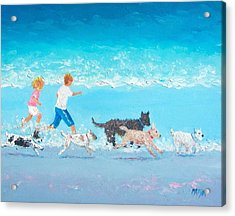 Dogs Day Out Acrylic Print by Jan Matson