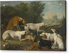 Dogs In A Landscape With Their Catch Acrylic Print