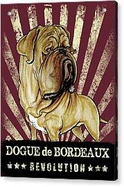 Dogue De Bordeaux Revolution Acrylic Print