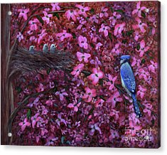 Acrylic Print featuring the painting Dogwood Haven by Kristi Roberts