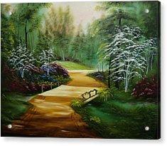 Dogwoods In Springtime Acrylic Print