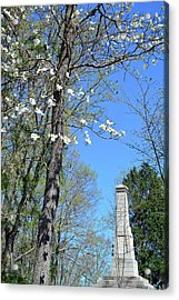 Dogwoods On Crest Of Kings Mountain National Military Park Acrylic Print by Bruce Gourley