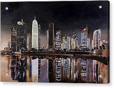 Doha Qatar Acrylic Print by Guido Borelli