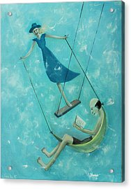 Doing The Swing Acrylic Print by Tone Aanderaa