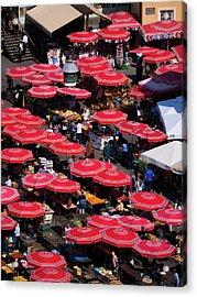 Dolac Market Umbrellas Acrylic Print by Rae Tucker