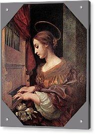Dolci Carlo St Cecilia At The Organ Acrylic Print by Carlo Dolci