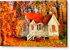 Doll House And Foliage Acrylic Print