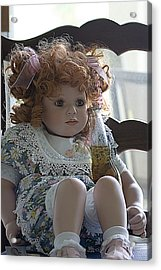 Doll Sitting In Chair With Bottle Of Beer Acrylic Print by Christopher Purcell