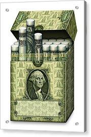 Dollar Cigarettes Acrylic Print