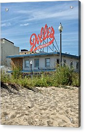 Acrylic Print featuring the photograph Dolles From The Beach - Rehoboth Beach Delaware by Brendan Reals