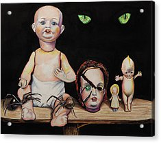 Dolls And Spiders Acrylic Print
