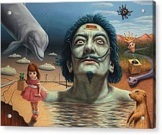 Dolly In Dali-land Acrylic Print by James W Johnson
