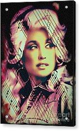 Dolly Parton - Digital Art Painting Acrylic Print