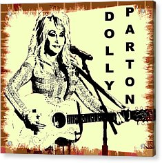 Dolly Parton Graffiti Poster Acrylic Print by Dan Sproul