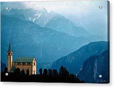 Dolomite Church Acrylic Print