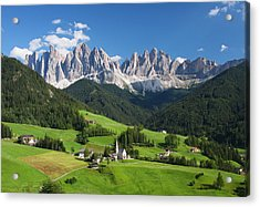 Dolomites In Summer Acrylic Print by Dan Breckwoldt