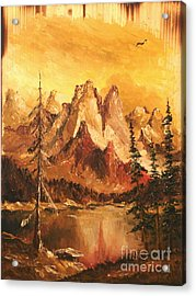Acrylic Print featuring the painting Dolomiti by Sorin Apostolescu