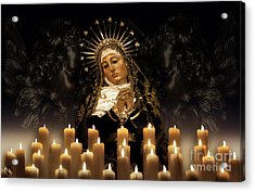Dolorosa Comforted By Angel Love Acrylic Print