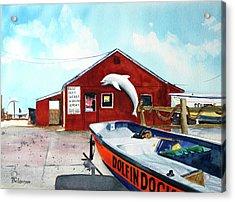 Dolphin Dock II Acrylic Print