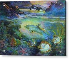 Dolphin Fantasy Acrylic Print