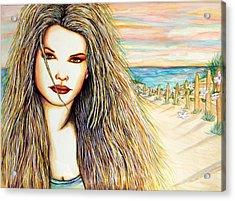 Dolphin Acrylic Print by Joseph Lawrence Vasile