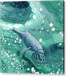Acrylic Print featuring the painting Dolphin Magic by Darice Machel McGuire
