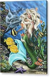 Dolphin Mermaid Acrylic Print