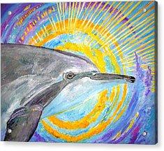 Dolphin Ray Acrylic Print by Tamara Tavernier