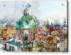 Dome In Prague Czech Republic Acrylic Print by Brandon Bourdages