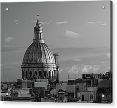 Dome Of Our Lady Of Mount Carmel In Valletta, Malta Acrylic Print