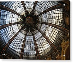 Dome Of The Galleries Lafayette Acrylic Print by Victoria Heryet