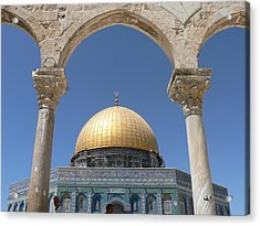 Dome Of The Rock Acrylic Print by James Lukashenko