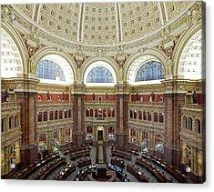 Domed Main Reading Room Acrylic Print by Everett