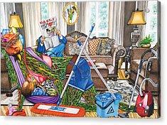 Domestic Abuse Acrylic Print