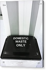 Domestic Waste Bin Acrylic Print
