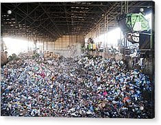 Domestic Waste Treatment Centre Acrylic Print by Photostock-israel