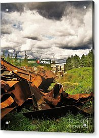 Domfer Deconstruction Twisted Metal Acrylic Print by Reb Frost