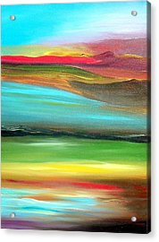 Acrylic Print featuring the painting Dominant Red by Ray Khalife