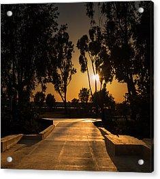 Dominguez Hills Sunset Acrylic Print