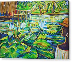 Acrylic Print featuring the painting Dominicana by Anna  Duyunova