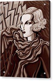 Dominique In Sepia Tone Acrylic Print by Tara Hutton